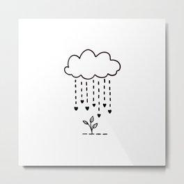 Raining love Metal Print