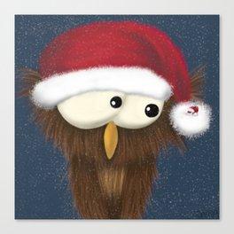 Sam the Festive Owl Canvas Print