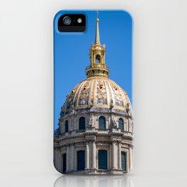 Hotel des Invalides dome in Paris iPhone Case