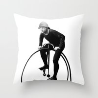 pushing daisies Throw Pillows featuring Keep Pushing by William Michael
