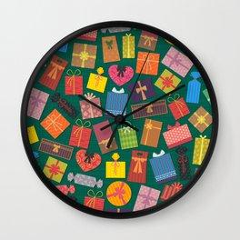 Fun Gift Box pattern Wall Clock