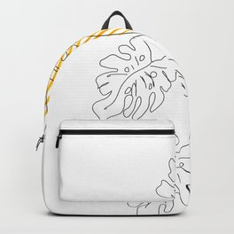 Monstera line Art Backpack