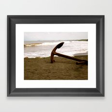 Anchors To Stay Framed Art Print