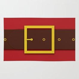 Santa's Belt - Christmas Illustration Rug