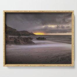 Stormy sunrise at Bracelet Bay Serving Tray