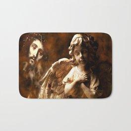 Jesus Hears Prayers By Annie Zeno Bath Mat