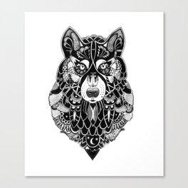 Ornate Wolf Canvas Print