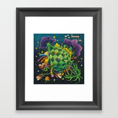Pixel world Framed Art Print