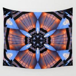 Vibrant Romeo Sunrise Double Kaleidoscope Wall Tapestry