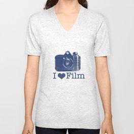 I ♥ Film (Blue/Peach) Unisex V-Neck