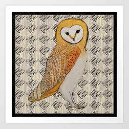 Quizzical Owl Art Print