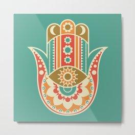 Colorful Hamsa Hand Metal Print
