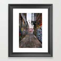 Graffiti Alley Framed Art Print