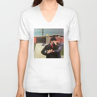 mid century V-neck T-shirts featuring Mid Century Modern by Popcorn Jones