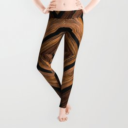 Urban Tribal Pattern 3 - Wood Leggings