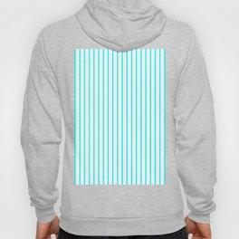 Vertical Lines (Aqua Cyan/White) Hoody