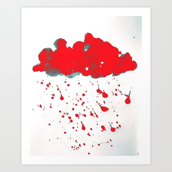 Red Red Clouds Art Print
