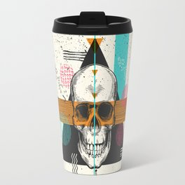Skull Geometry #2 Travel Mug