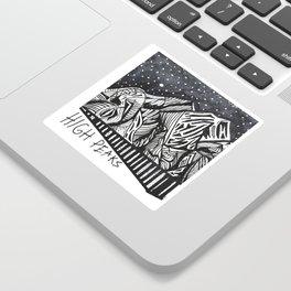 """High Peaks"" Hand-Drawn Adirondacks by Dark Mountain Arts Sticker"