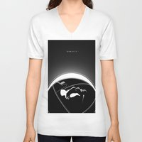 gravity V-neck T-shirts featuring Gravity by justjeff