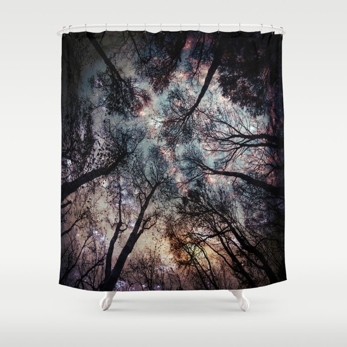 Starry Sky In The Forest Shower Curtain By Mariannamills