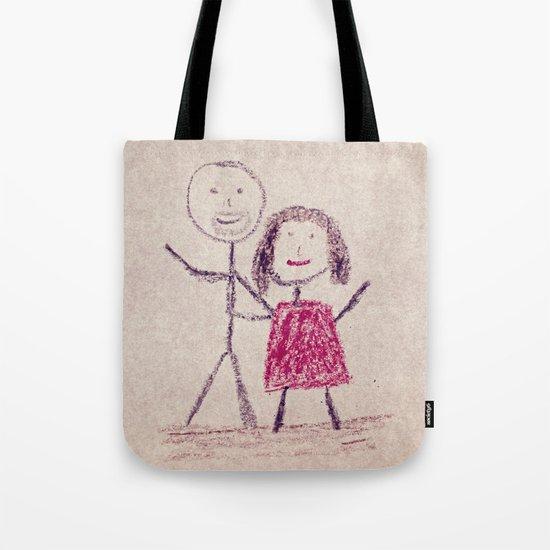 CRAYON LOVE: Boy meets Girl Tote Bag