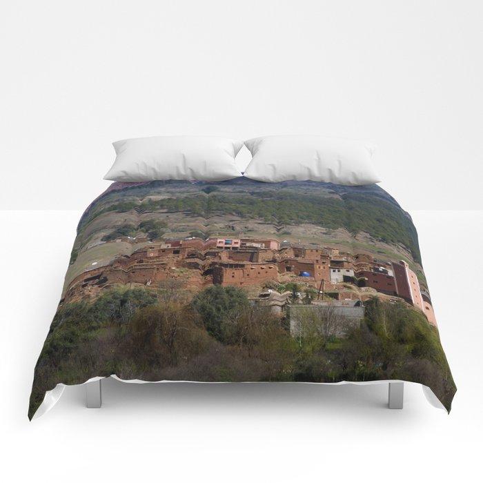 Village Among Hills Comforters