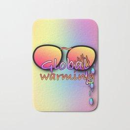 GLOBAL WARMING TEARS SUNGLASSES Graphic Design Illustration Print Bath Mat