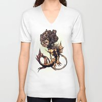 seahorse V-neck T-shirts featuring SEAHORSE by Tim Shumate