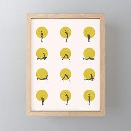 sun salutation I Framed Mini Art Print