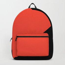 Black , orange , triangles Backpack