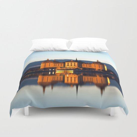 Fairy tale Castle - Moritzburg blue hour Duvet Cover