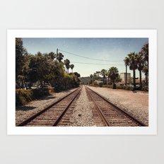 Rail Gazing Santa Barbara Art Print