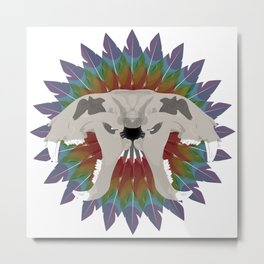 forked tiger skull Metal Print