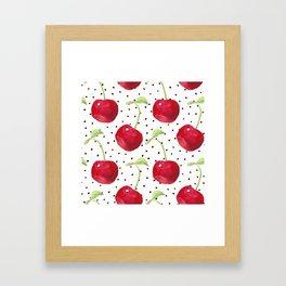 Cherry pattern II Framed Art Print