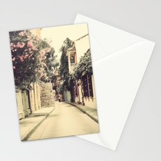 Just like a dream street (Retro and Vintage Urban, architecture photography) Stationery Cards
