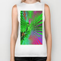 psychedelic Biker Tanks featuring Psychedelic  by Elizabet Chacon Artworks