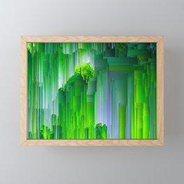 Nature Glitchin' - Abstract Pixel art Framed Mini Art Print