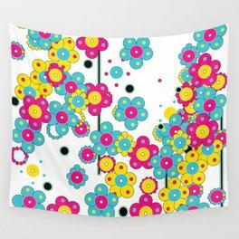 Flower Power Shower Wall Tapestry