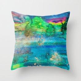 Lake Kayaking Throw Pillow