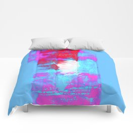abstract blue pink Comforters