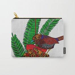 Little Bird In Evergreen Boughs Carry-All Pouch