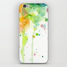 Rainbow Watercolor Pattern Texture iPhone & iPod Skin