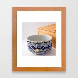 Kintsugi Bowl Framed Art Print
