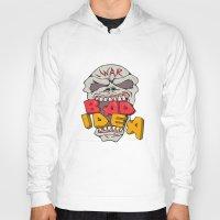 bad idea Hoodies featuring Skull War Bad Idea Cartoon by patrimonio