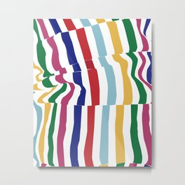wrinkled fabric Metal Print