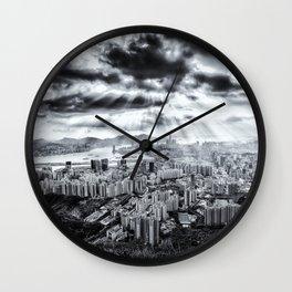 Explosion above Hong Kong! Wall Clock