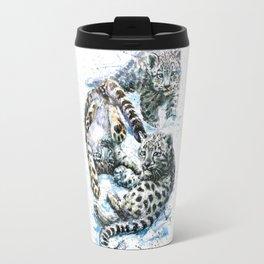 Little snow leopards Travel Mug