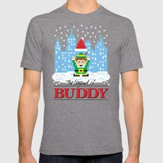 The Legend of Buddy Mens Fitted Tee Tri-Grey SMALL