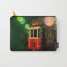 red tram in bubbles Carry-All Pouch